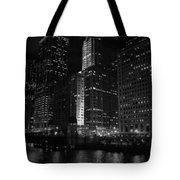 Chicago Wacker Drive Night Tote Bag