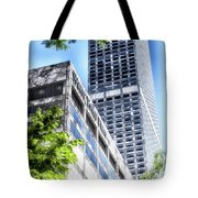 Chicago Water Tower Place Facade And Signage Tote Bag