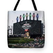 Chicago White Sox Home Coming Weekend Scoreboard Tote Bag