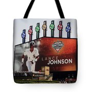 Chicago White Sox Lance Johnson Scoreboard Tote Bag