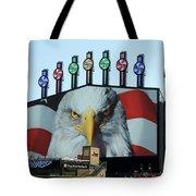 Chicago White Sox Usa Eagle Scoreboard Tote Bag