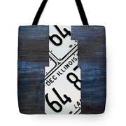 Chicago Windy City Harris Sears Tower License Plate Art Tote Bag by Design Turnpike