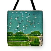 Chicago's Dusable Harbor  Tote Bag