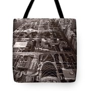 Chicagos Front Yard B W Tote Bag