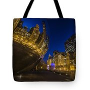 Chicago's Millenium Park At Dusk Tote Bag