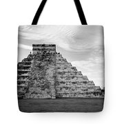 Chichen Itza B-w Tote Bag