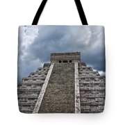 Chichen-itza Pyrmid In Mexico Tote Bag