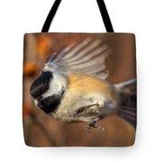 Chickadee Blurrrr Tote Bag