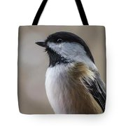 Chickadee Close Up Tote Bag