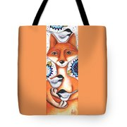 Chickadee Fox Tote Bag