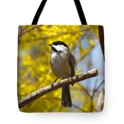 Chickadee In Spring Tote Bag