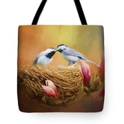 Chickadee Lunch Tote Bag