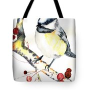 Chickadee Tote Bag