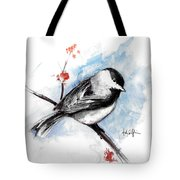 Chickadee Spring Tote Bag