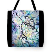 Chickadees Tote Bag