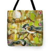 Chickadees Three Tote Bag