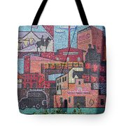 Chickasaw Ballpark Mosaic Wall Tote Bag