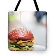 Chicken Burger With Gherkins Beetroot Bread Bun Tote Bag