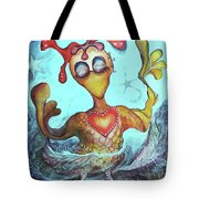 Chicken Dreaming Tote Bag