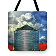 Chicken Feed Other Worldly Sky Art Tote Bag