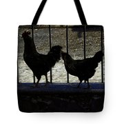 Chicken In Silhousette Tote Bag