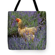 Chicken In The Lavender Tote Bag