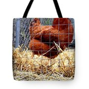 Chicken In The Straw Tote Bag