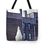 Chicken Little In Manhattan Tote Bag
