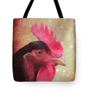 Chicken Portrait - Painting Tote Bag