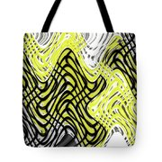 Chicken Scratch Abstract Tote Bag