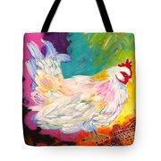 Chicken Scratch Tote Bag