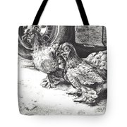 Chickens Crossing The Road Tote Bag