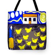 Chickens On The Farm 2 Tote Bag