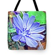 Chicory On Trail To North Beach Park In Ottawa County, Michigan  Tote Bag