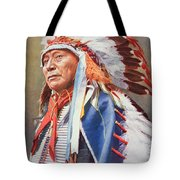 Chief Hollow Horn Bear Tote Bag by American School
