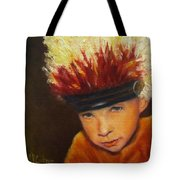 Chief Wannabee #2, Native American Indian Child   Tote Bag