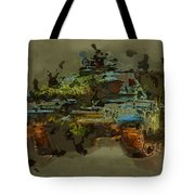 Chieftain Tank Abstract Tote Bag