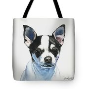 Chihuahua Black Spots With White Tote Bag