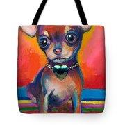 Chihuahua Dog Portrait Tote Bag