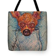 Chihuahua In A Pocket Tote Bag
