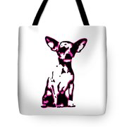 Chihuahua In Pink Tote Bag