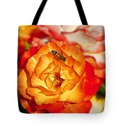 Chihuly Rose With Bee Tote Bag