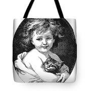 Child & Pet, 19th Century Tote Bag
