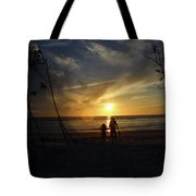 Child And Grandmother At Ft Desoto Tote Bag