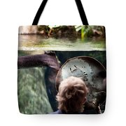 Child And Ray Fish In Paludarium Tote Bag