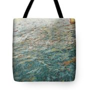 Child Feeding Bread To Fishes Tote Bag