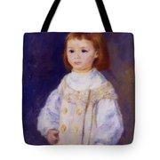 Child In A White Dress Lucie Berard 1883 Tote Bag