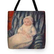 Child On A Sofa Tote Bag by Mary Cassatt