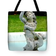 Child On Swan Tote Bag