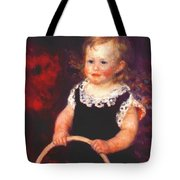 Child With A Hoop Tote Bag